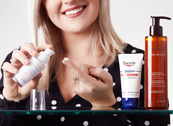 image of Chelsey from Escentual's favourite french skincare products to use after dermaplaning