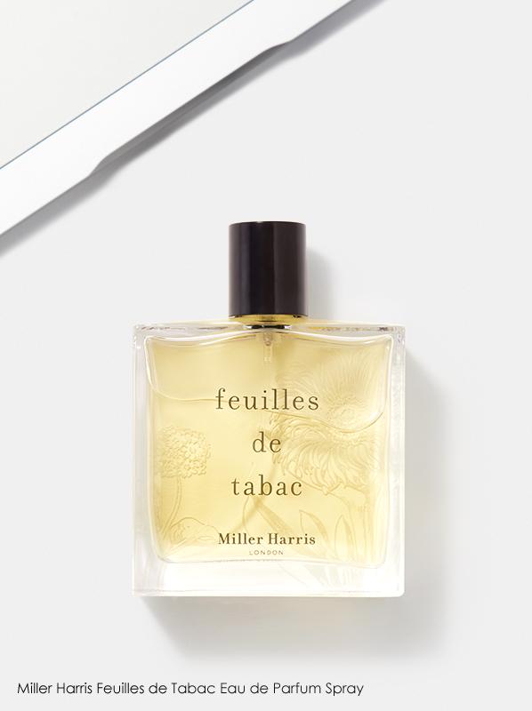 Image of Miller Harris Feuilles de Tabac Eau de Parfum fragrance bottle