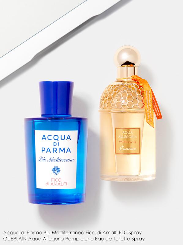 Image of Guerlain Pamplelune and Acqua di Parma Fico di Amalfi fragrance bottles