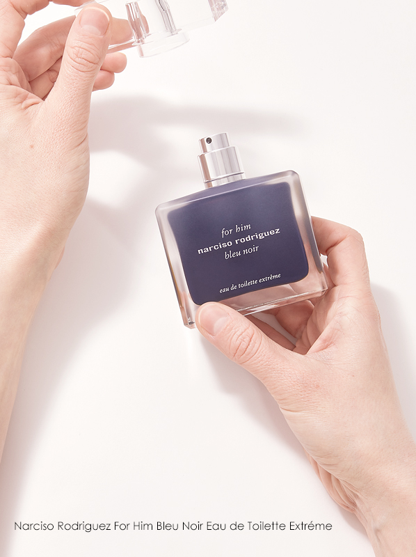 Escentual Beauty Team Favourites. Matt picks Narciso Rodriguez For Him Bleu Noir Eau de Toilette Extreme