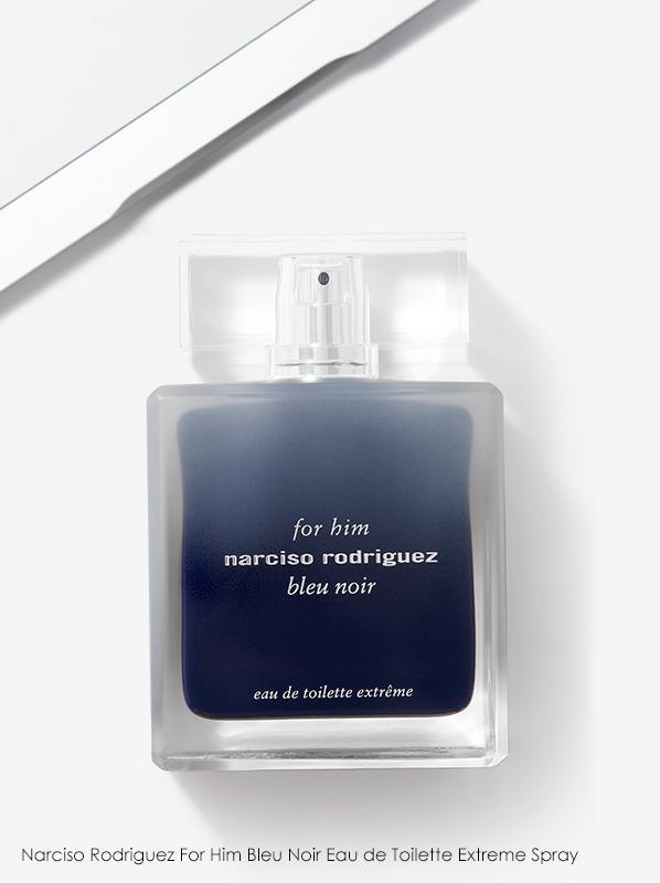 best intense fragrances for 2020: Narciso Rodriguez For Him Bleu Noir Eau de Toilette Extreme Spray