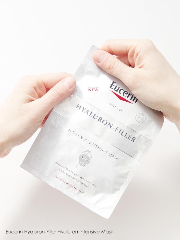fake a good night sleep with skincare: eucerin hylauron filler sheet mask