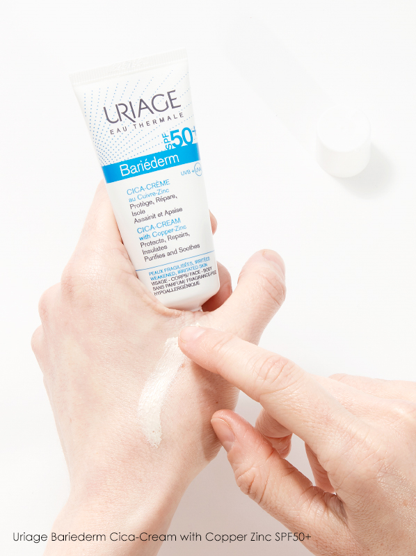 best cica creams for family: Uriage Bariederm Cica-Cream with Copper Zinc SPF50+
