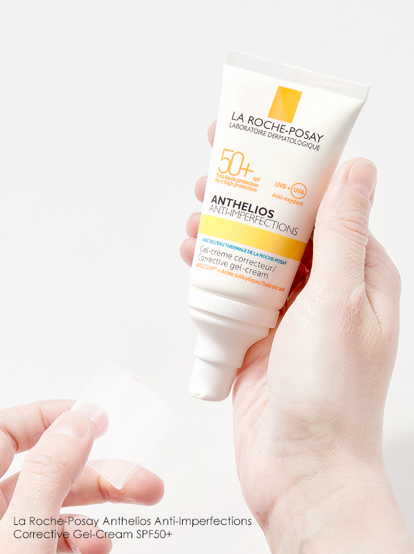 Swatch image of La Roche-Posay Anthelios Anti-Imperfections Corrective Gel-Cream SPF50+
