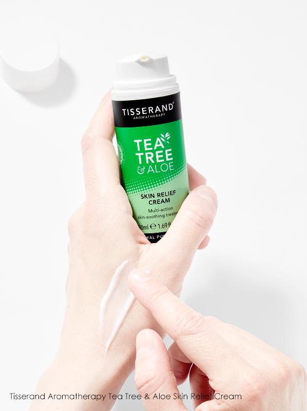 Hand image of Tisserand Aromatherapy Tea Tree & Aloe Skin Relief Cream