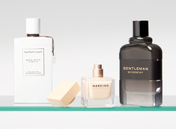 Image of Van Cleef & Arpels Collection Extraordinaire Santal Blanc, Narciso Rodriguez Poudree and Givenchy Gentleman Boisee Eau de Parfum