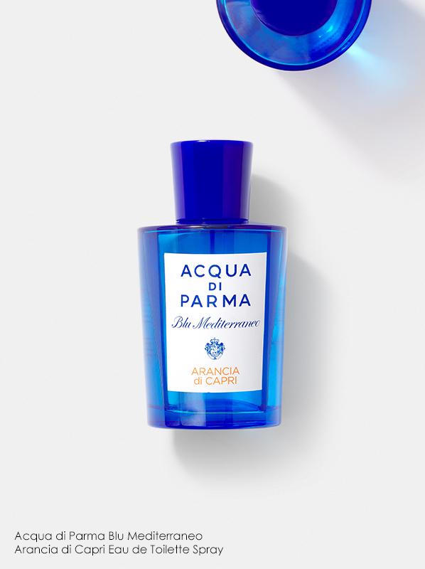Best Orange Fragrances; Acqua di Parma Blu Meditteraneo Arancia di Capri Eau de Toilette