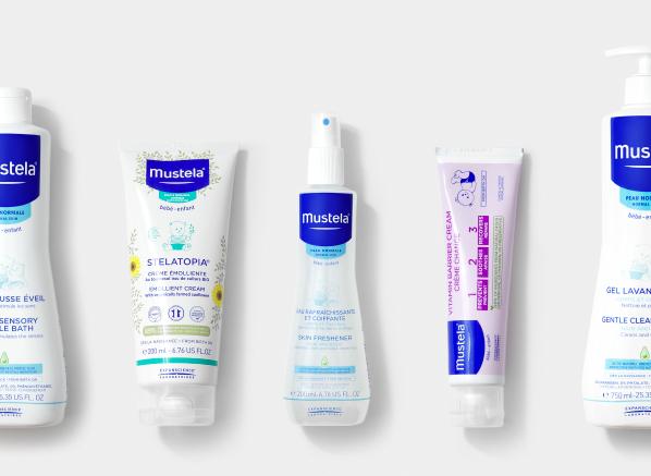Your Guide to Mustela Skincare; Mustela Stelatopia Emollient Cream, Mustela Skin Freshener, Mustela 1-2-3 Vitamin Barrier Cream