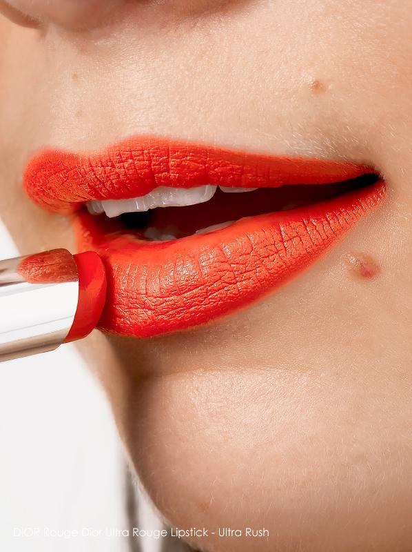 Orange Lipsticks: Dior Rouge Dior Ultra Rouge Lipstick Ultra Rush