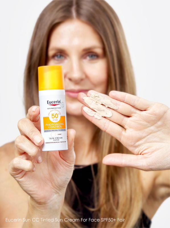 Tinted SPFs: Eucerin Sun CC Tinted Sun Cream For Face SPF50+ Fair
