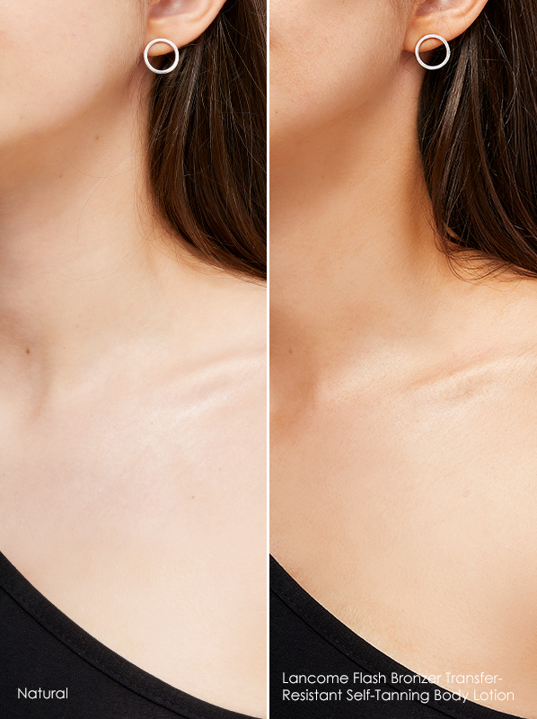 Model image of Lancome Flash Bronzer Transfer-Resistant Self-Tanning Body Lotion