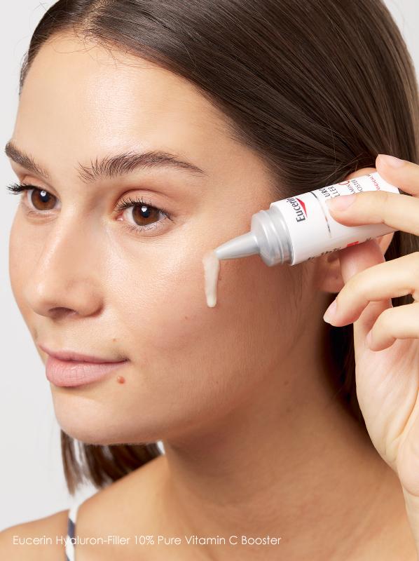 Best vitamin C skincare under £20; Eucerin Hyaluron Filler 10% Pure Vitamin C