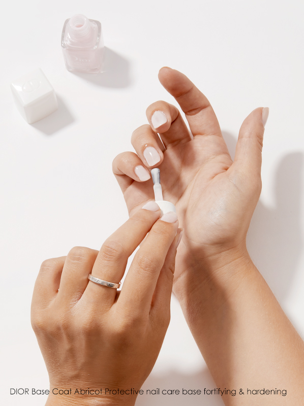 At-Home Manicure: Dior Base Coat Abricot Protective Nail Care Base Fortifying & Hardening