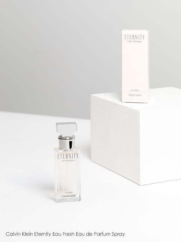 Image of Calvin Klein Eternity Eau Fresh Eau de Parfum bottle and pink box