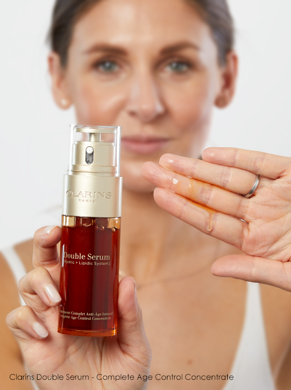 Your evening skincare routine step by step: Clarins Double Serum