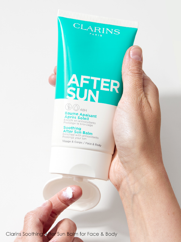 Hand image of Clarins Soothing After Sun Balm for Face & Body