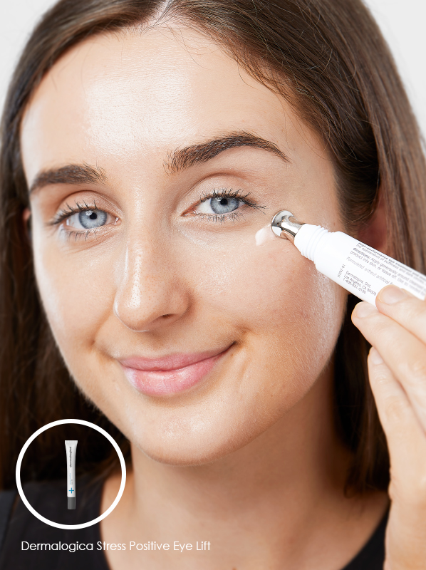 Tool for lymphatic drainage: Dermalogica Stress Positive Eye Lift