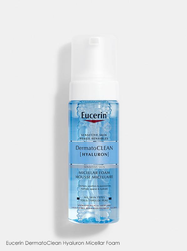 Best New French Pharmacy Skincare - Eucerin DermatoClean Hyaluron Micellar Foam