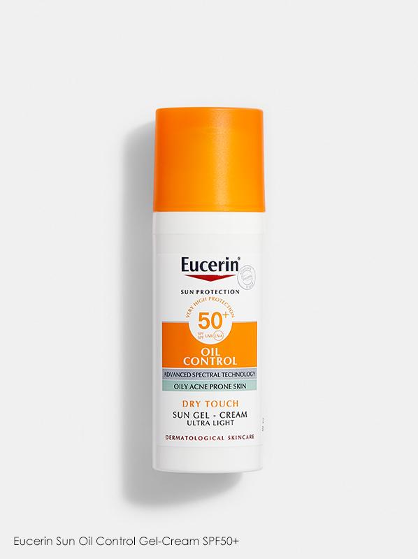 Best New French Pharmacy Skincare - Eucerin Sun Oil Control Gel-Cream SPF50+