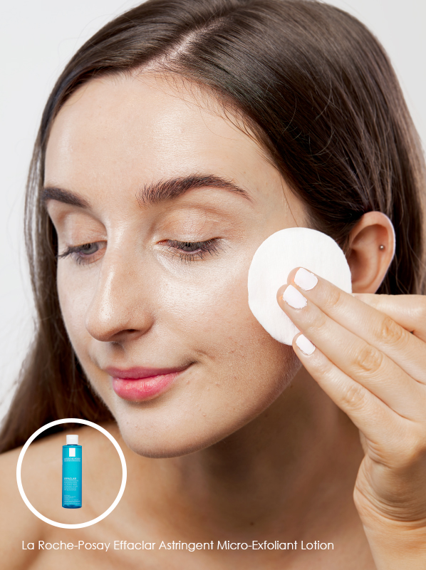 how to cure maskne skincare guide. Use La Roche-Posay Effaclar Astringent Micro-Exfoliant Lotion as a daily toner