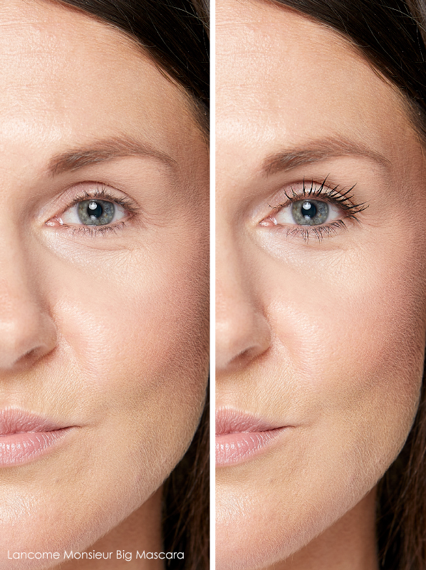 Lancome Monsieur Big Volume Mascara before and after