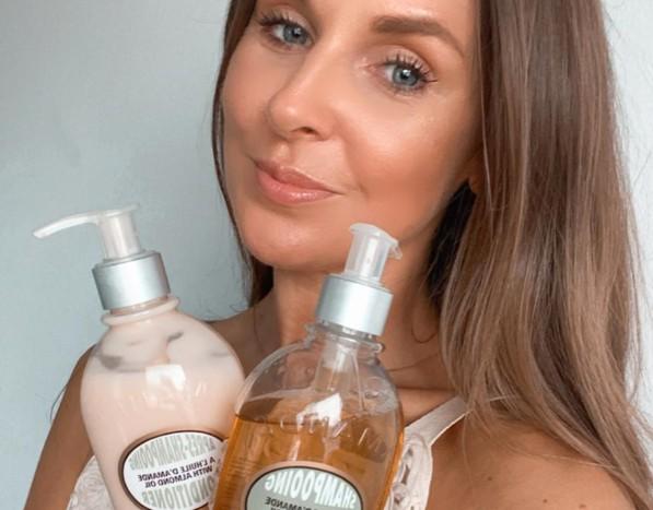 Elisabeth, Escentual Communications & Campaigns Assistant August Team Favourite; L'Occitane Almond Shampoo & Conditioner Hair Care Duo