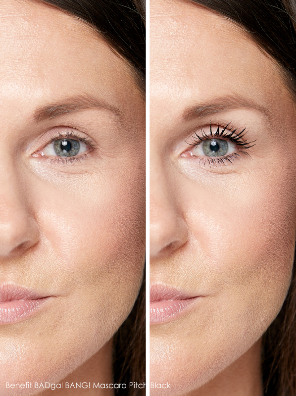 best mascaras for false lash effect: benefit bad gal bang mascara