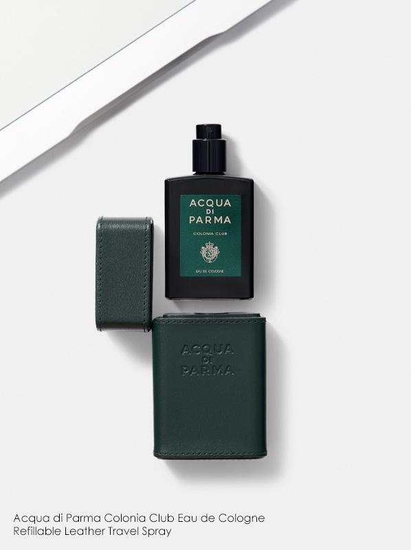 Refillable perfume: Acqua di Parma Colonia Club Eau de Cologne Refillable Leather Travel Spray