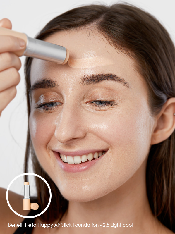 minimal makeup essentials: Benefit Hello Happy Air Stick Foundation