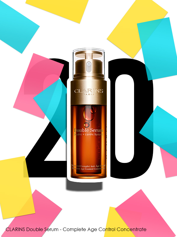 Clarins Double Serum - Complete Age Control Concentrate for Escentual 20th birthday bestsellers