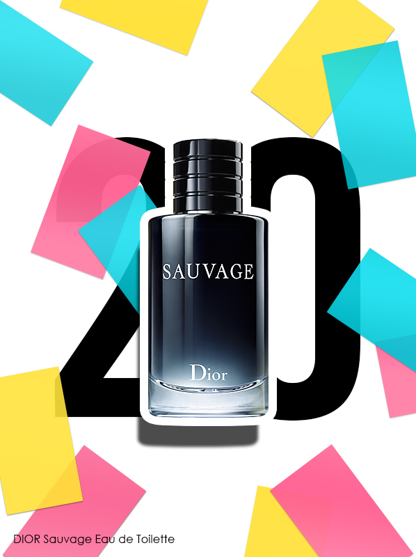 DIOR Sauvage Eau de Toilette Spray for Escentual's 20th birthday bestsellers