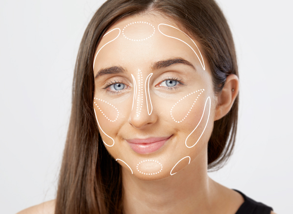 Face contouring makeup guide