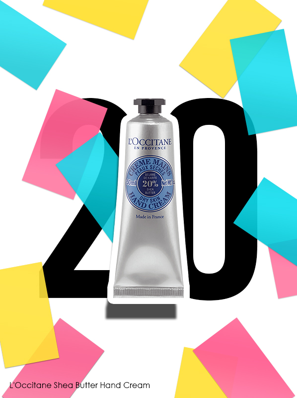 L'Occitane Shea Butter Hand Cream for Escentual 20th birthday bestsellers