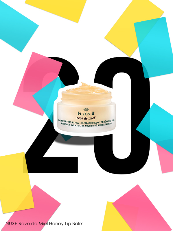 Nuxe Reve de Miel Honey Lip Balm for Escentual 20th birthday bestsellers