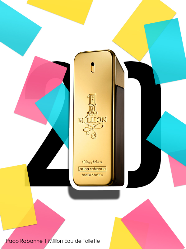 Paco Rabanne 1 Million Eau de Toilette Spray for Escentual 20th birthday bestsellers