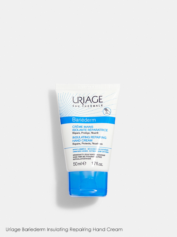 Uriage Bariederm Insulating Repairing Hand Cream in a review of best selling uriage products