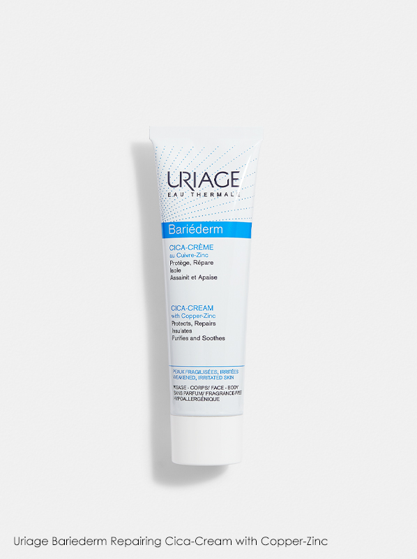 Uriage Bariederm Repairing Cica-Cream with Copper-Zinc in a review of best selling uriage products
