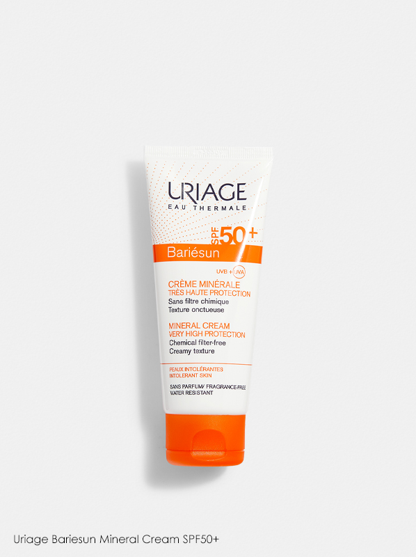 Uriage Bariesun Mineral Cream SPF50+ in a review of best selling Eucerin products