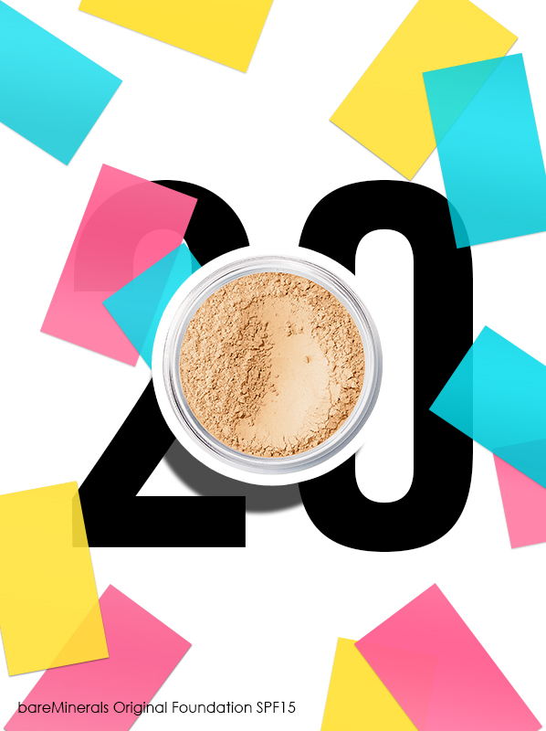 bareMinerals Original Foundation SPF15 for Escentual 20th birthday bestsellers