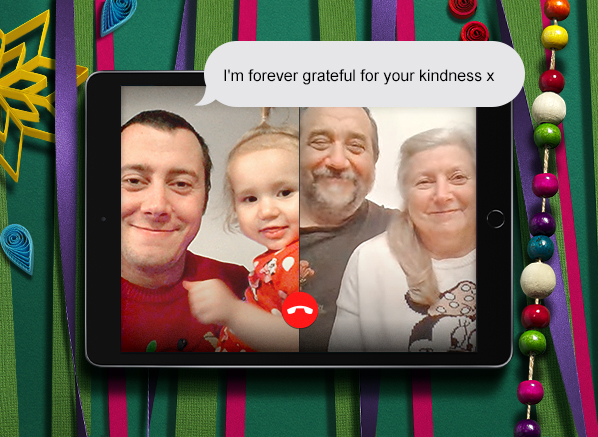 Thoughtful Gifts Campaign Star: Escentual Team Member, Richard with Parents
