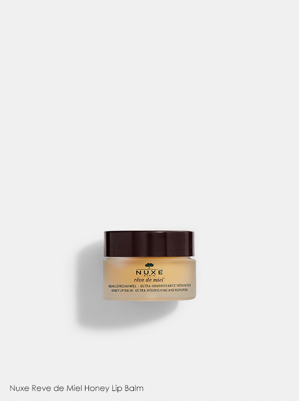 A review of Nuxe products which features Nuxe Reve de Miel Honey Lip Balm