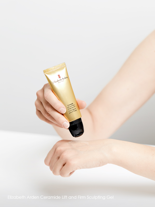 Tool for lymphatic drainage: Elizabeth Arden Ceramide Lift and Firm Sculpting Gel