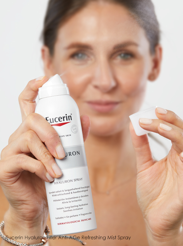 Which order should I apply my skincare products? Eucerin Hyaluron Filler Anti-Age Refreshing Mist Spray