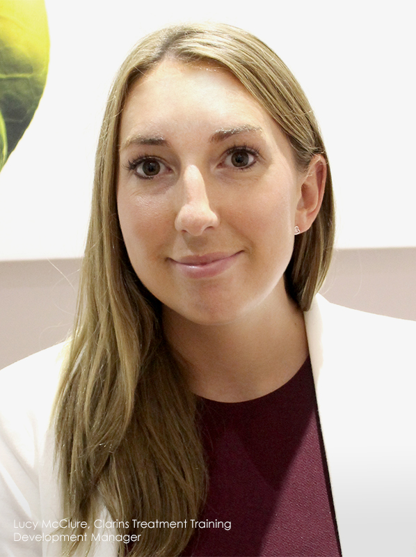 Lymphatic drainage facial: Lucy Maclure Clarins Trainer