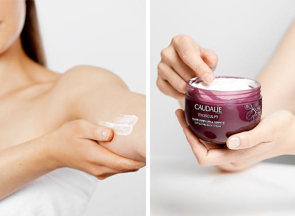 Lymphatic drainage body: Caudalie Vinosculpt Lift & Firm Body Cream