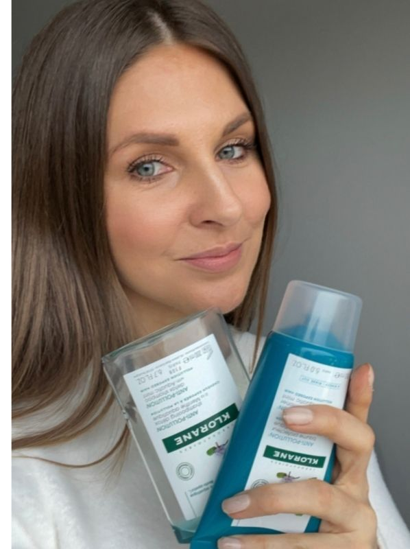 What we used up this month: Klorane Aquatic Mint Shampoo and Conditioner