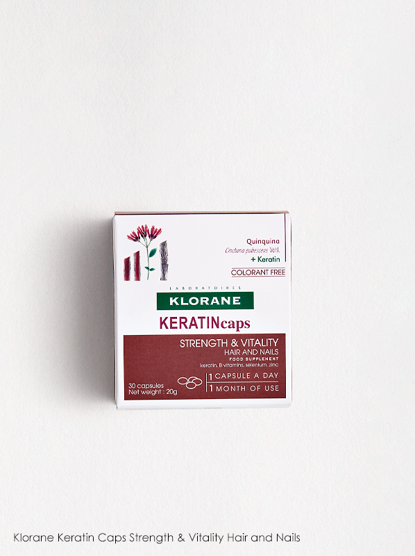 Discover What's New In French Pharmacy: Klorane Keratin Caps Strength & Vitality Hair and Nails