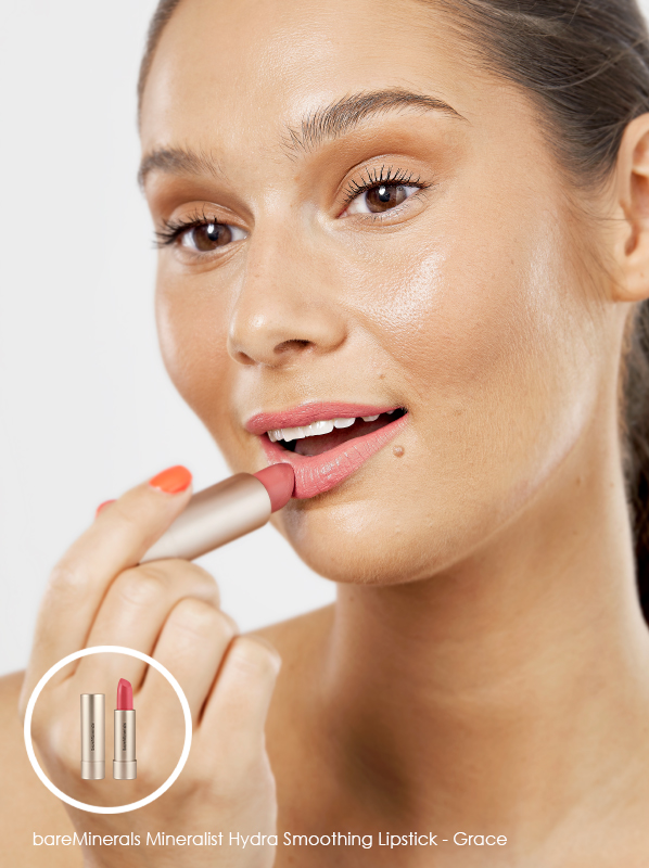Best Multi-Use Makeup; bareMinerals Mineralist Hydra Smoothing Lipstick in Grace