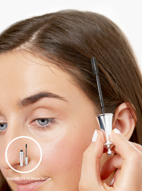 Multipurpose makeup use for Benefit 24-Hr Brow Setter in clear shade - used to tame flyaway hairs