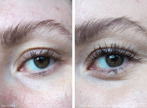 Benefit They're Real Magnet Powerful Lifting & Lengthening Mascara Before & After